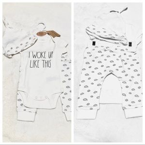 🆕Baby Rae Dunn 3pc I WOKE UP LIKE THIS Outfit